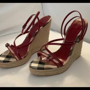 Burberry Raspberry Pink with Nova Check Wedges